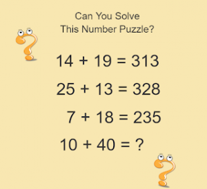 Maths Puzzles With Answers